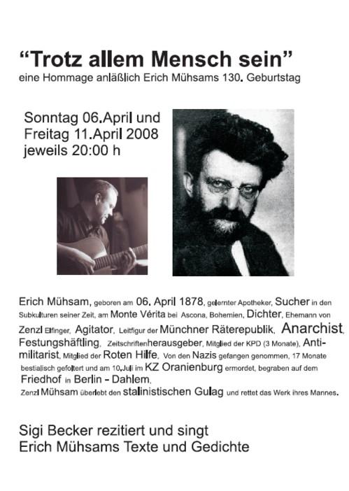 Erich-Mühsam-Premiere